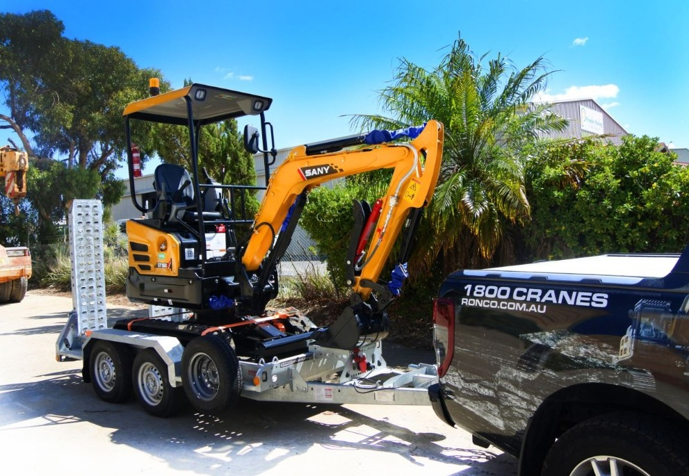 RONCO plant and equipment take delivery of a fleet of Sany Excavators