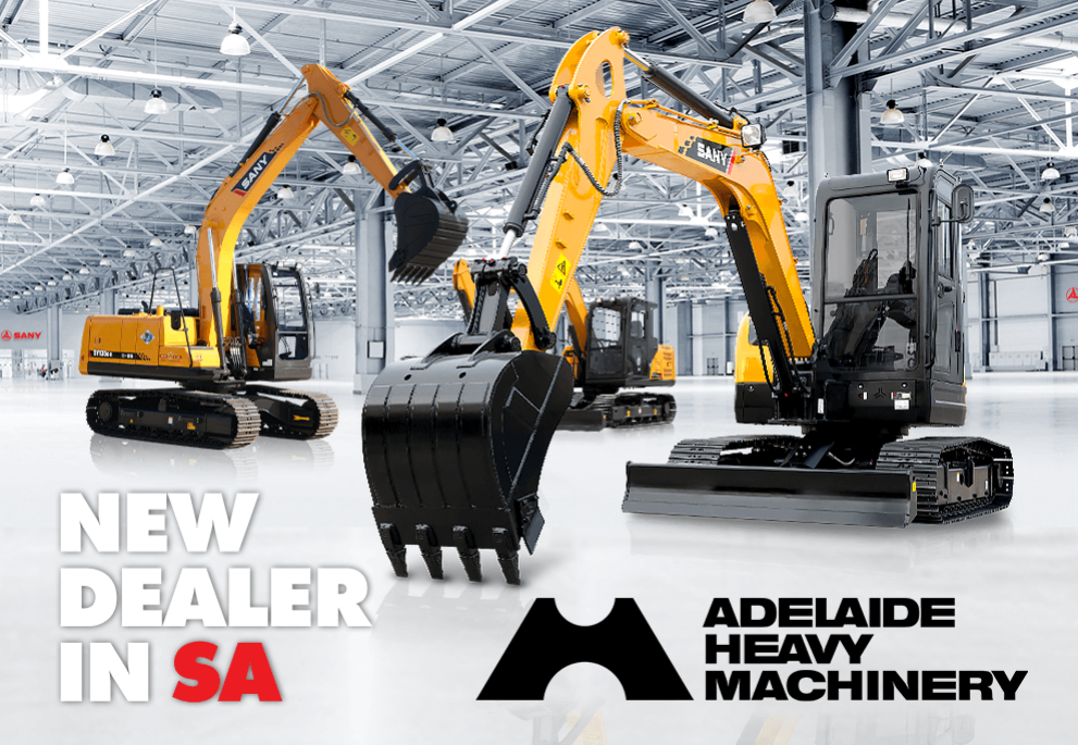 Sany is proud to partner with Adelaide Heavy Machinery as the appointed Dealer for SA