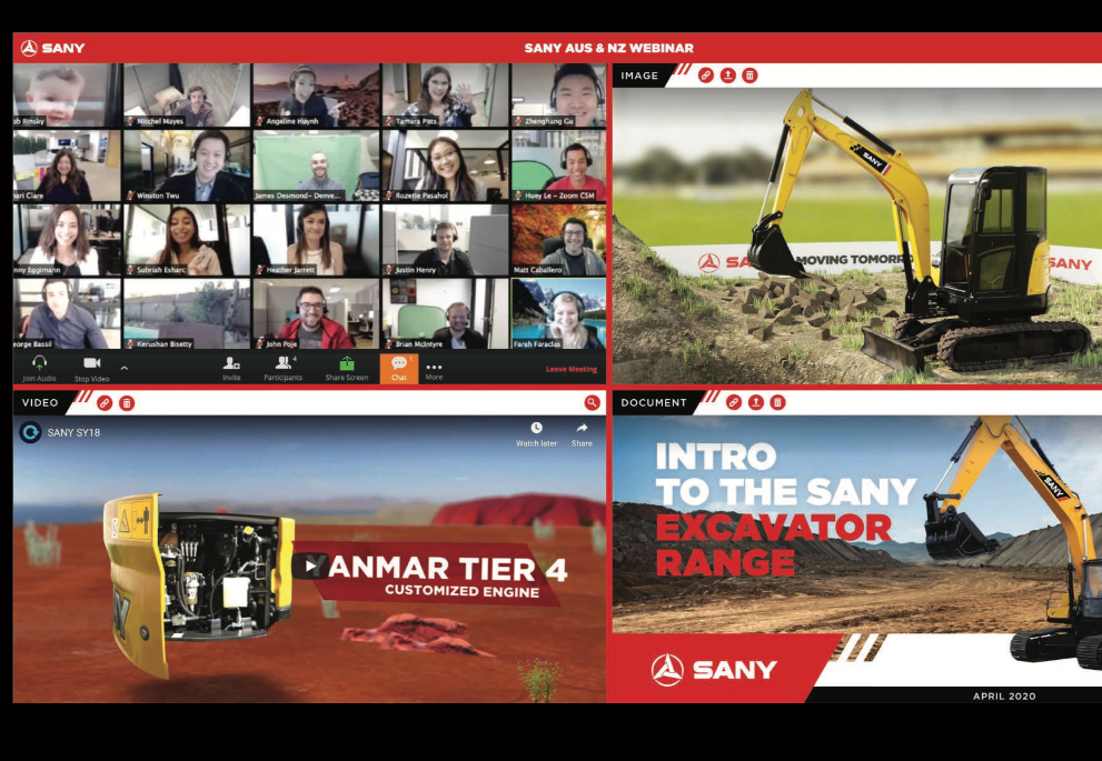 Sany ANZ Launches a world first Dealer Webinar in June.