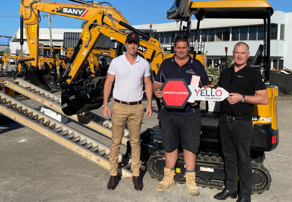 FIRST SANY EXCAVATOR DELIVERED TO CUSTOMER